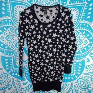 Star Print Sweater Project Dress Small S Fall Warm